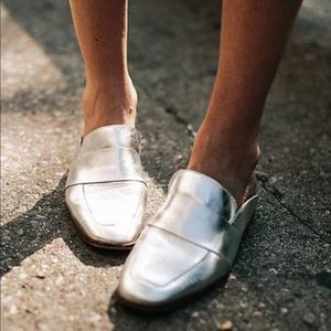 Free people silver at ease loafer